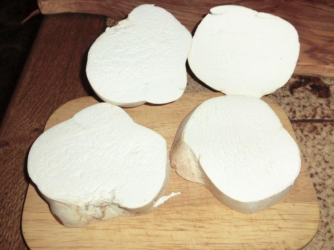 aufgeschnittene pilze
